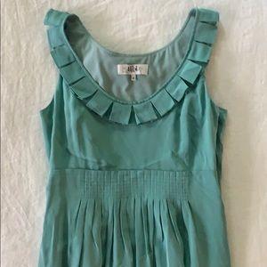 Tibi Teal Silk Dress
